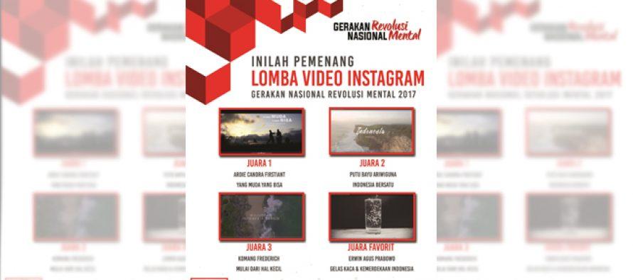 Pemenang Lomba Video Instagram Gerakan Revolusi Mental