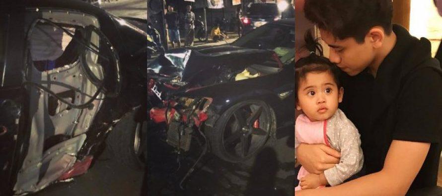 Putra Venna Melinda Mengalami Kecelakaan Dengan Kondisi Mobil Rusak Parah.