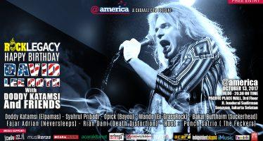 Doddy Katamsi & Friends Bakal Perform Di Rock Legacy : Happy Birthday David Lee Roth