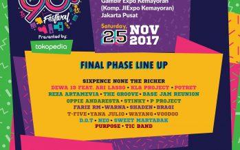 Lengkap, Inilah Final Line Up Event 90s Festival