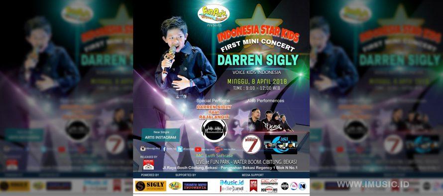 Penyanyi Cilik Darren Sigly Gelar Mini Konser