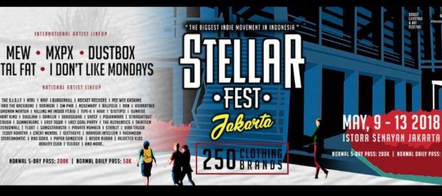 Stellar Fest 2018 Hadirkan Bugerkill Hingga MxPx