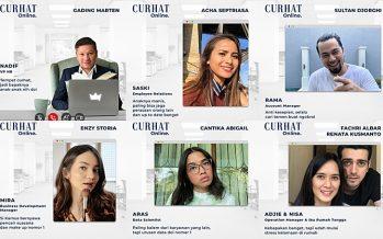 "Kisah Para Pegawai Start Up, Webseries Bertabur Bintang Bertajuk ""Curhat Online""; Gading Marten, Acha Septriasa."
