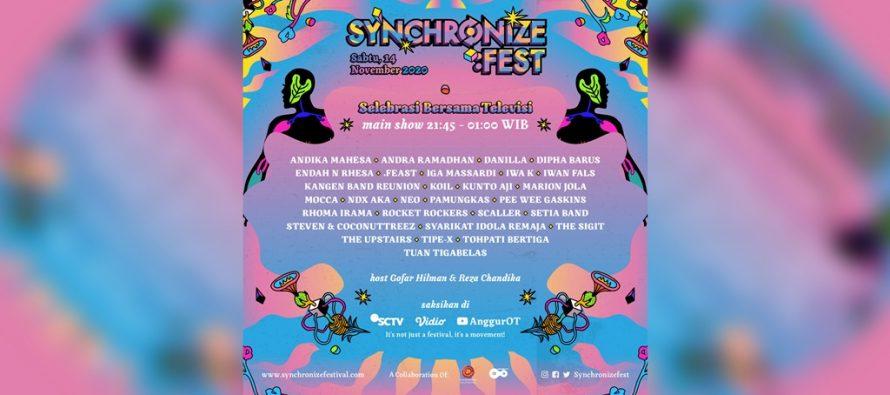 """Synchronize Festival 2020"" Akan Digelar On Air ""Selebrasi Bersama Televisi""."