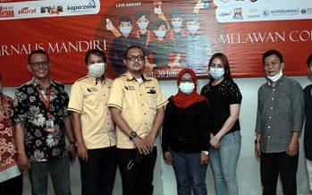 """1st Anniversary SNN """"Jurnalis Mandiri Lawan Corona"""" Berikan 100 Paket Kesehatan dan Sembako."""
